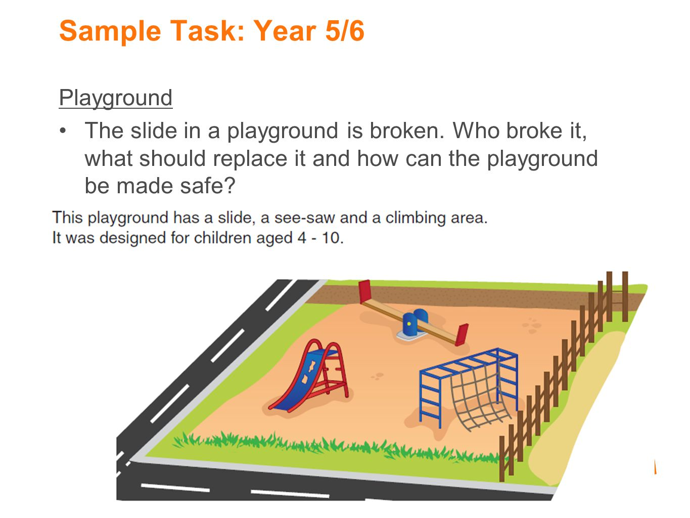 Sample Task: Year 5/6 Playground