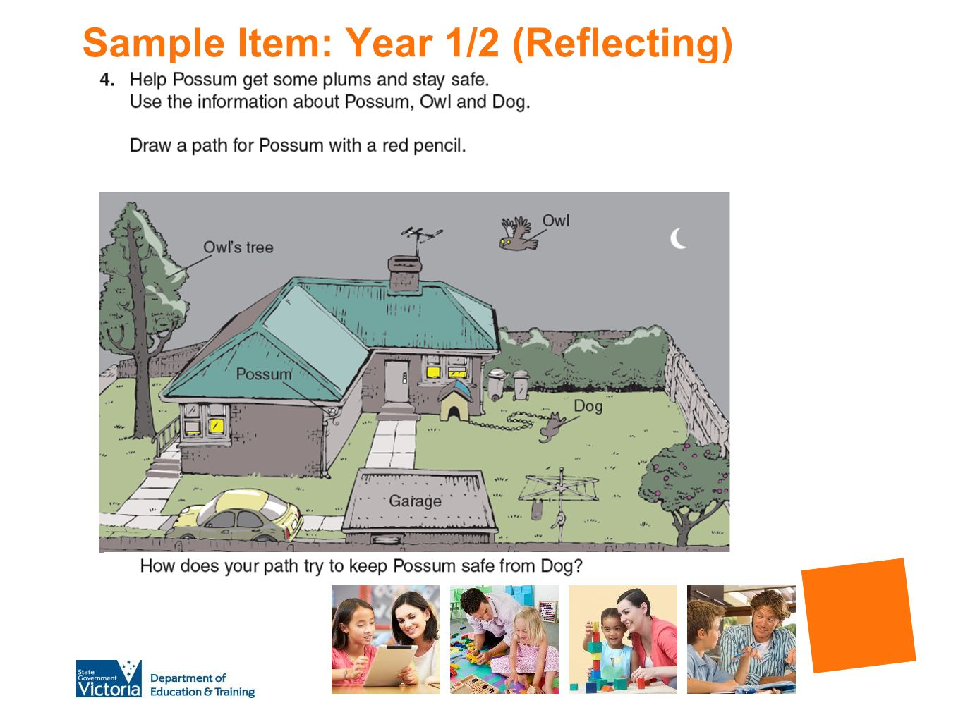 Sample Item: Year 1/2 (Reflecting)