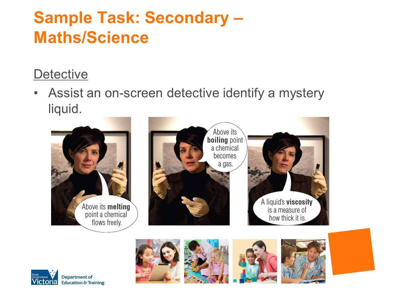 Sample Task: Secondary – Maths/Science