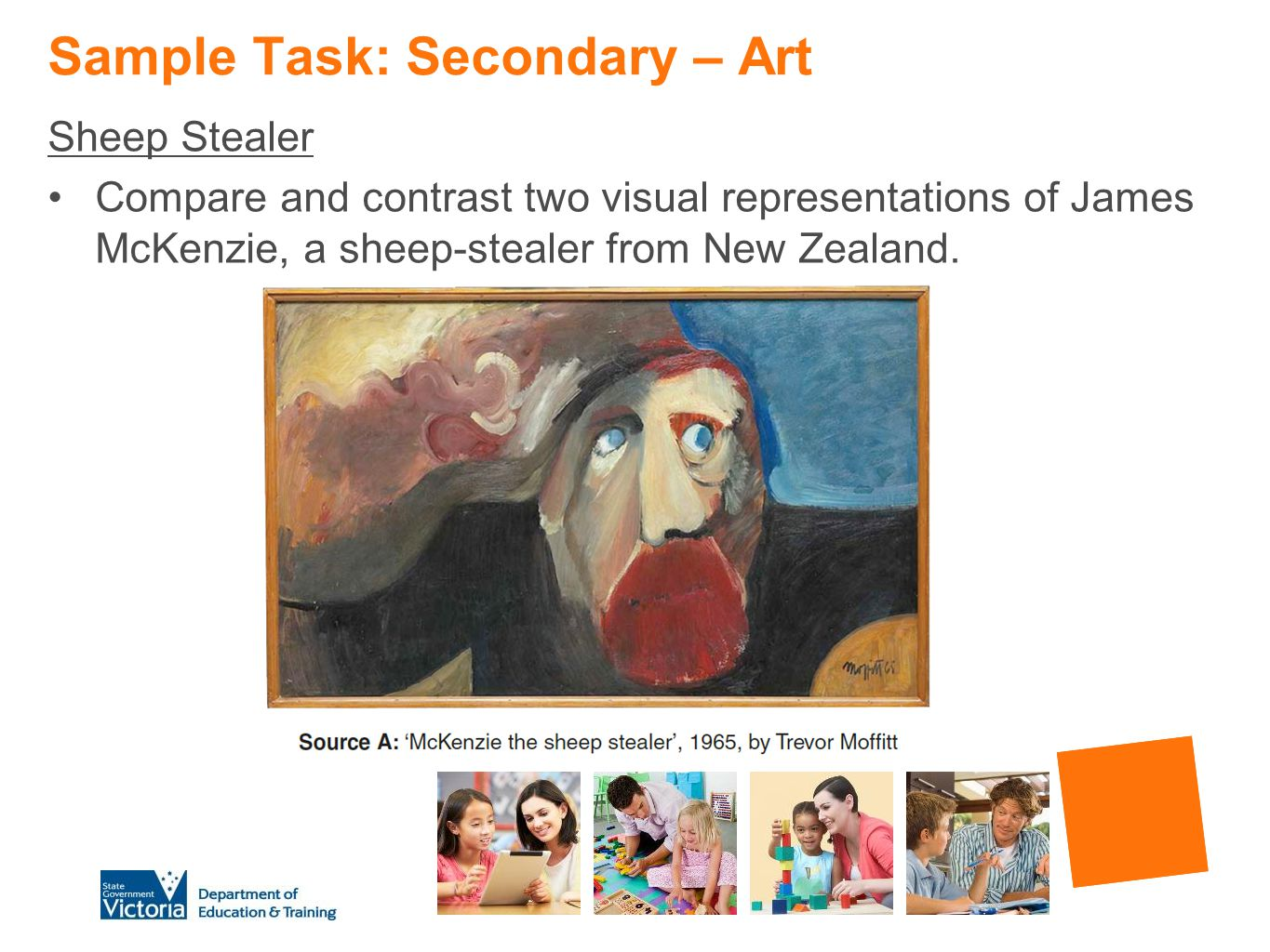 Sample Task: Secondary – Art