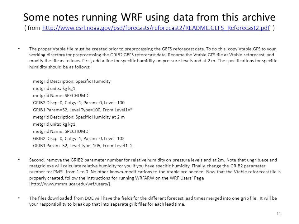 Some notes running WRF using data from this archive ( from http://www