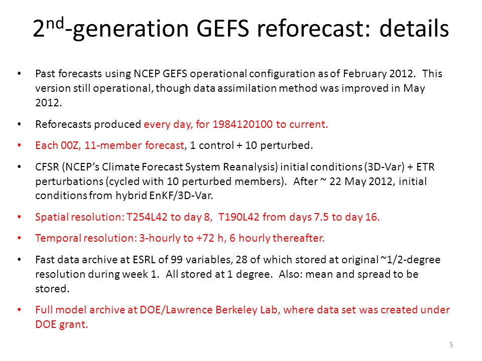 2nd-generation GEFS reforecast: details