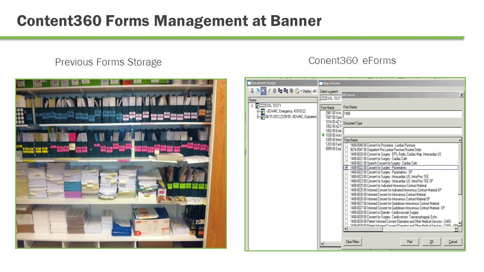 Content360 Forms Management at Banner