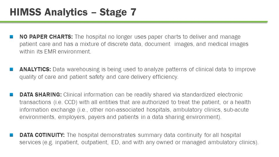 Why HIMSS believes Stage 7 Organizations are Successful