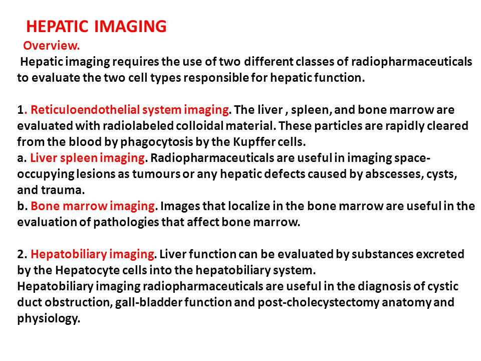 HEPATIC IMAGING Overview.