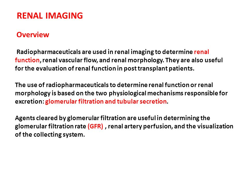 RENAL IMAGING Overview
