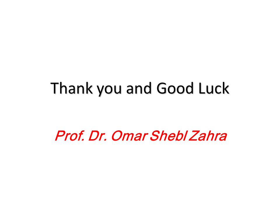 Prof. Dr. Omar Shebl Zahra