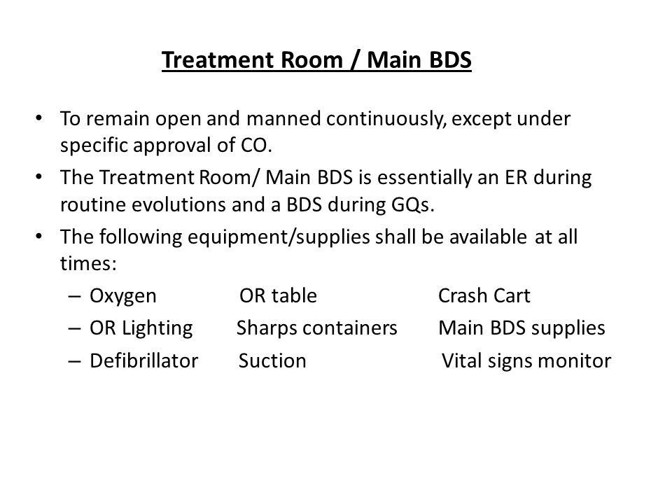 Treatment Room / Main BDS
