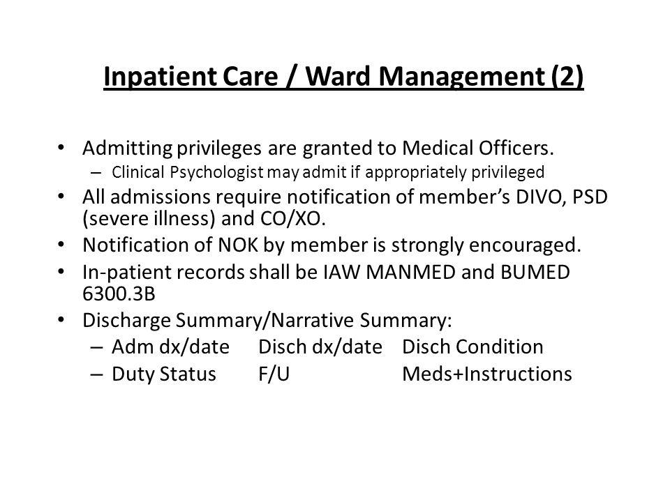 Inpatient Care / Ward Management (2)