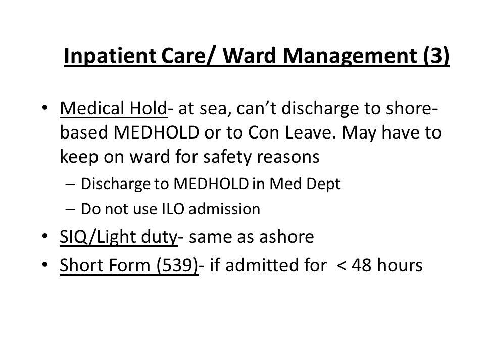 Inpatient Care/ Ward Management (3)