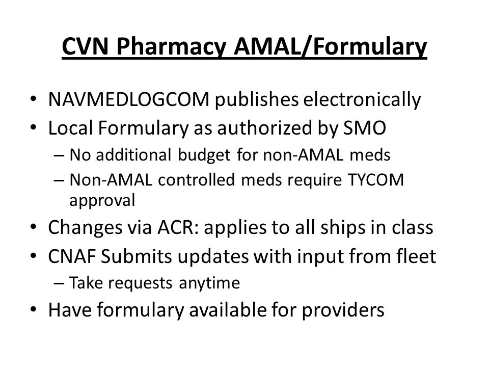 CVN Pharmacy AMAL/Formulary