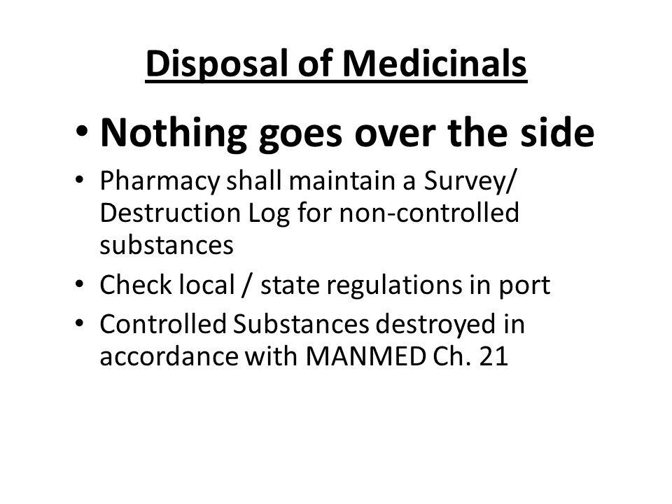 Disposal of Medicinals
