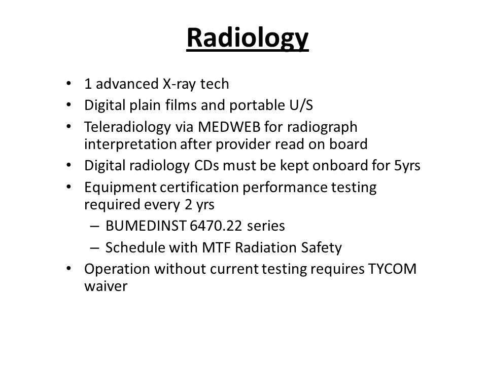 Radiology 1 advanced X-ray tech Digital plain films and portable U/S