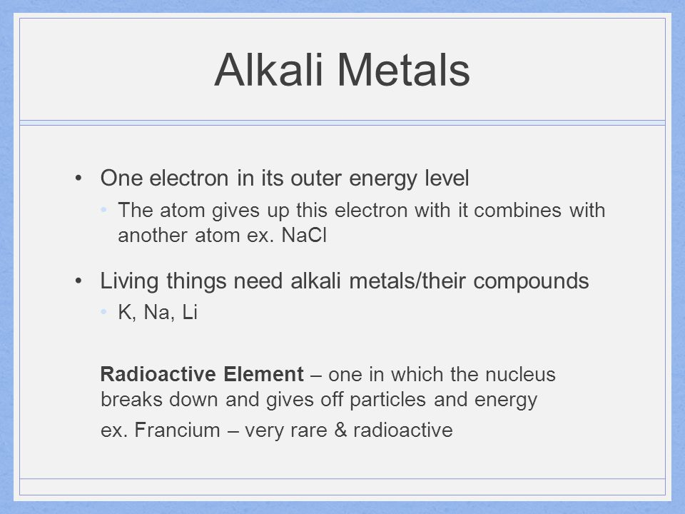 Alkaline Earth Metals Group 2
