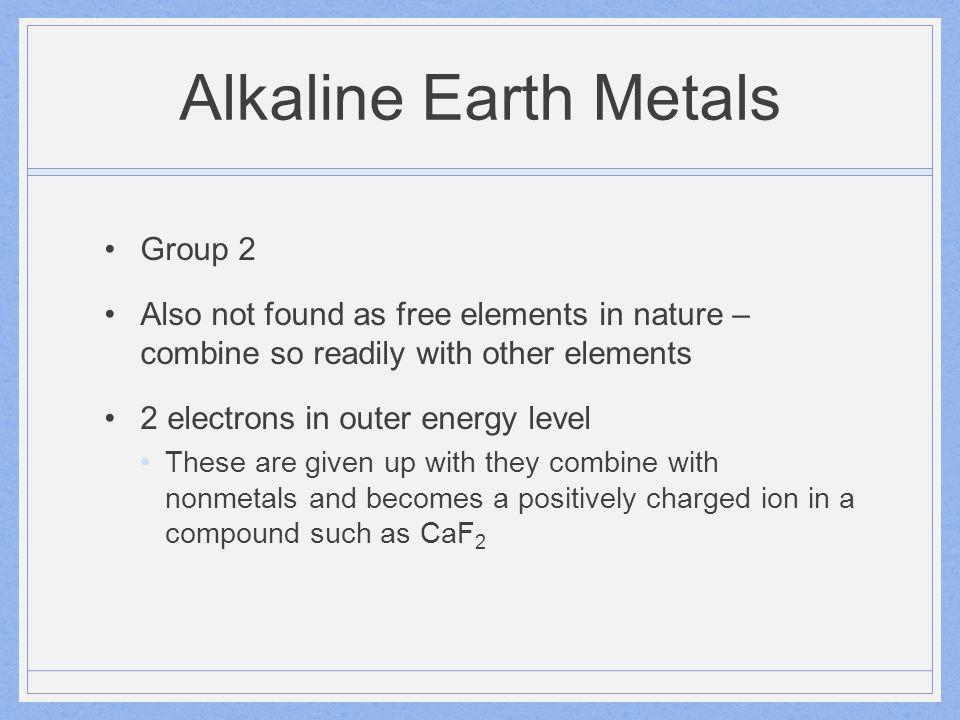Alkaline Earth Metals Magnesium & Strontium – used in fireworks