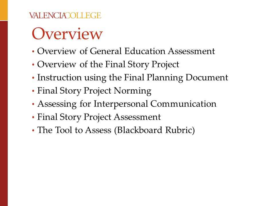 Overview Overview of General Education Assessment