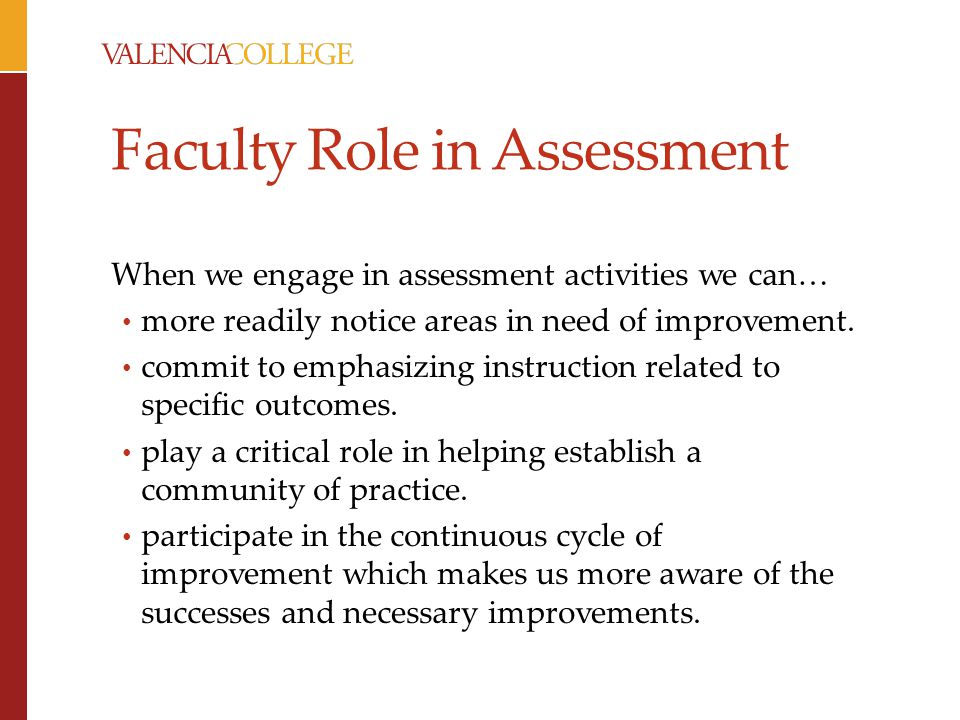 Faculty Role in Assessment
