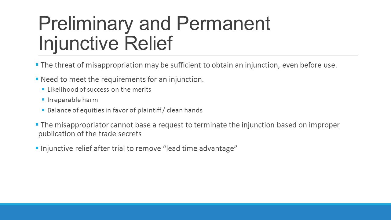 Preliminary and Permanent Injunctive Relief