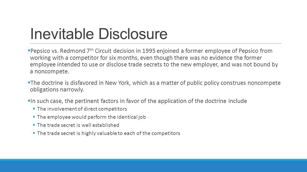 Inevitable Disclosure