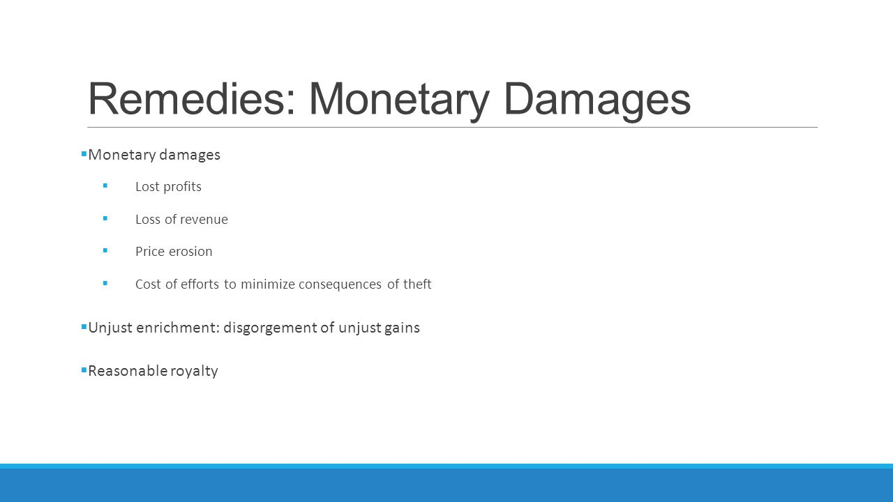 Remedies: Monetary Damages