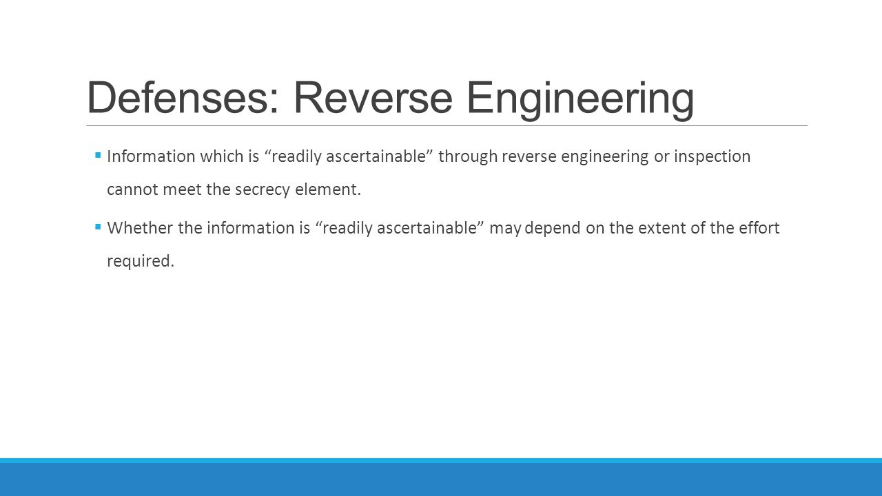 Defenses: Reverse Engineering