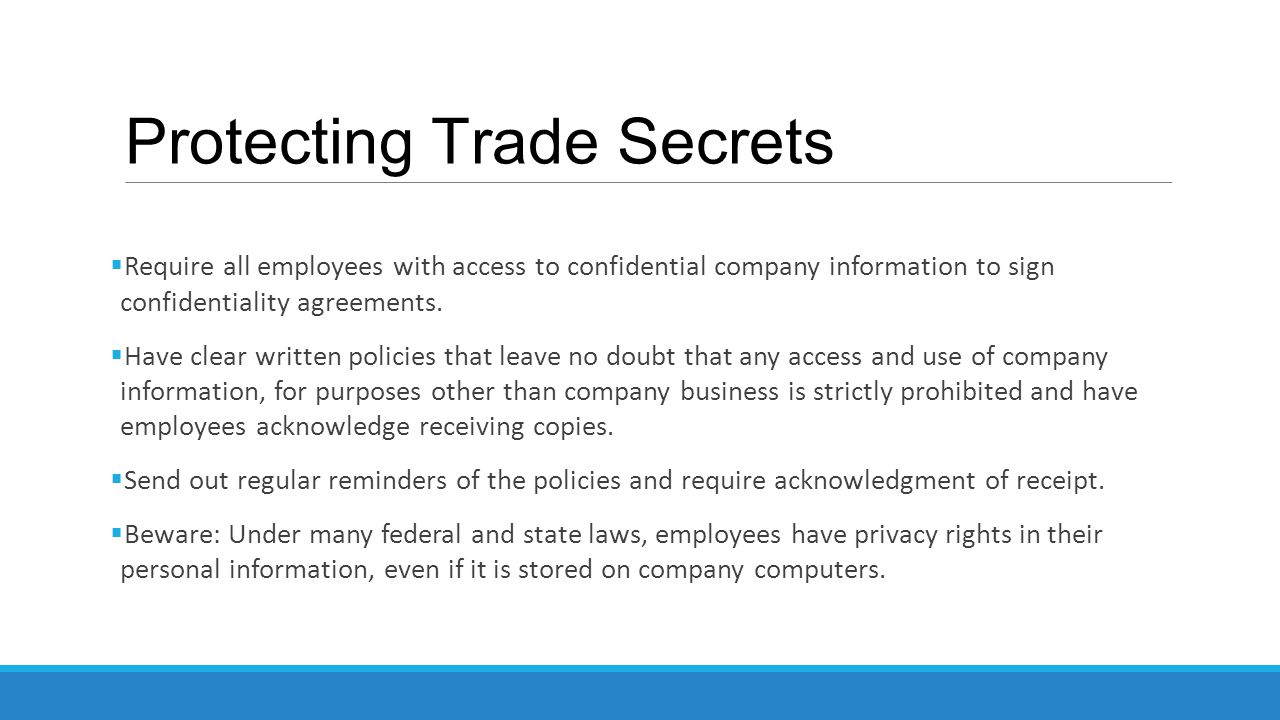 Protecting Trade Secrets