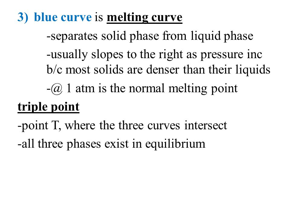 blue curve is melting curve