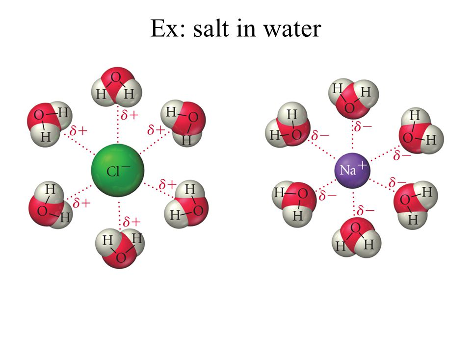 Ex: salt in water