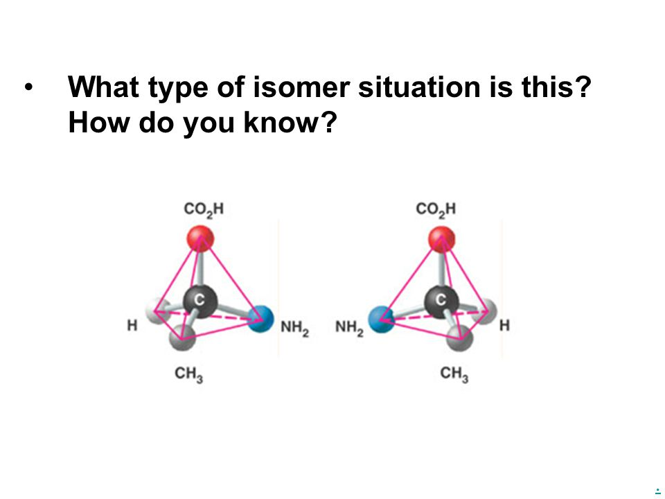 What type of isomer situation is this How do you know