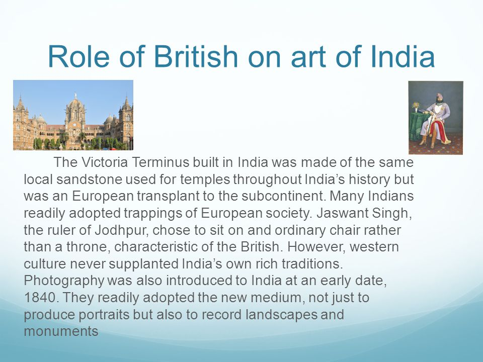 Role of British on art of India