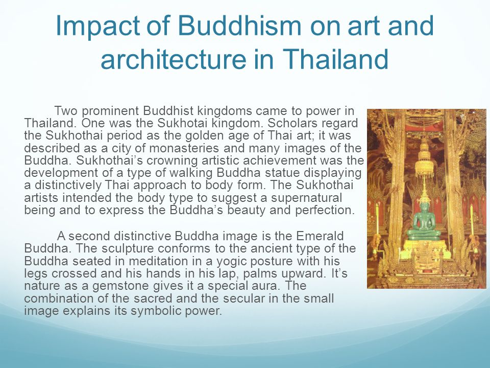 Impact of Buddhism on art and architecture in Thailand