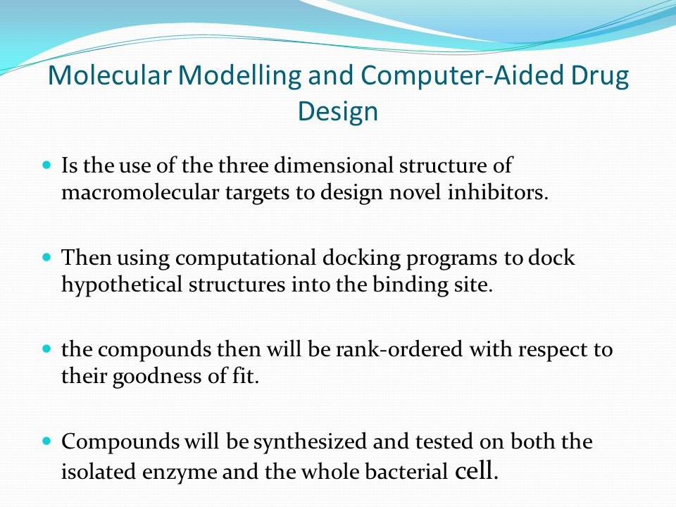 Molecular Modelling and Computer-Aided Drug Design