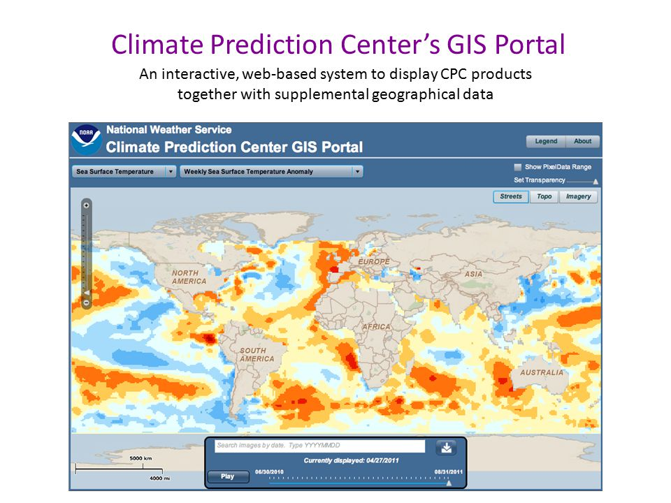 Climate Prediction Center's GIS Portal