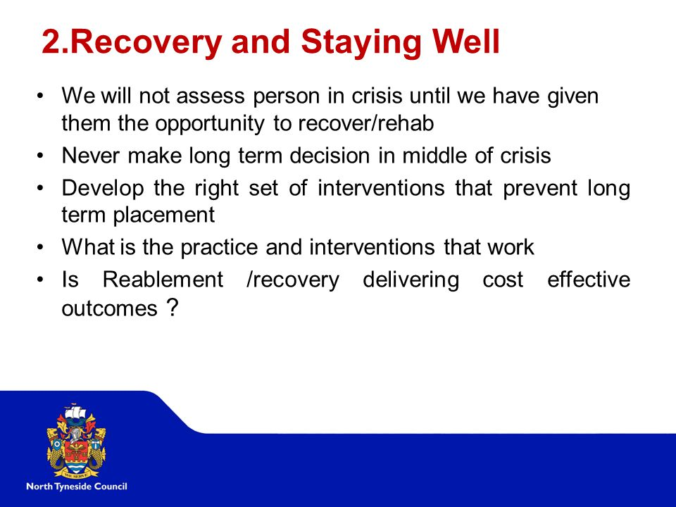 2.Recovery and Staying Well