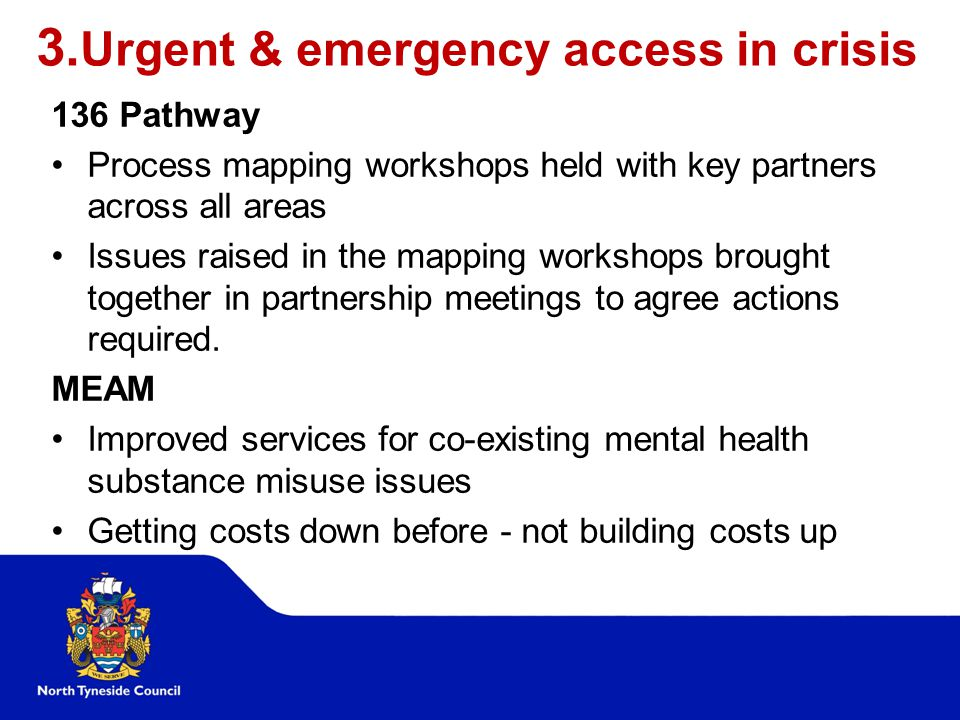 3.Urgent & emergency access in crisis