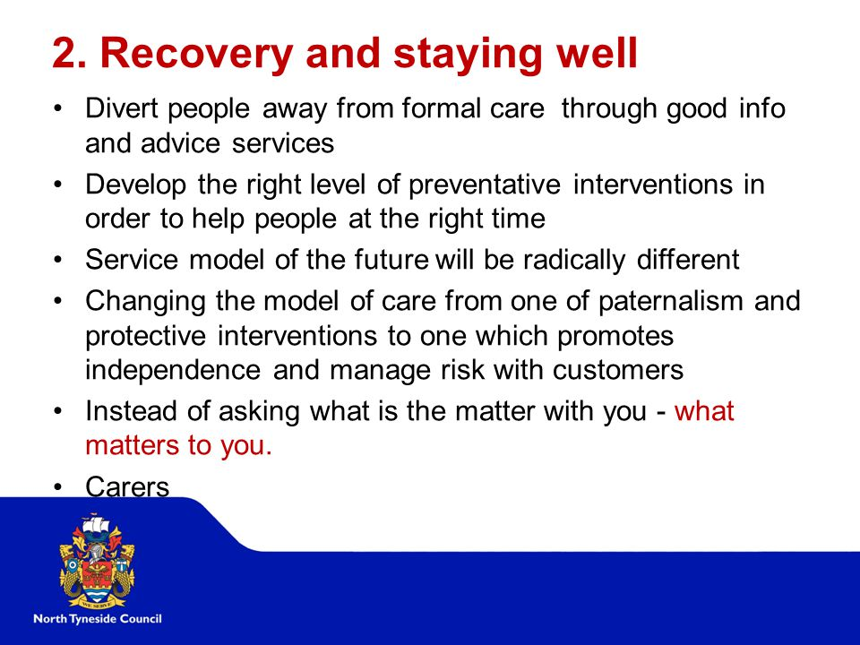 2. Recovery and staying well