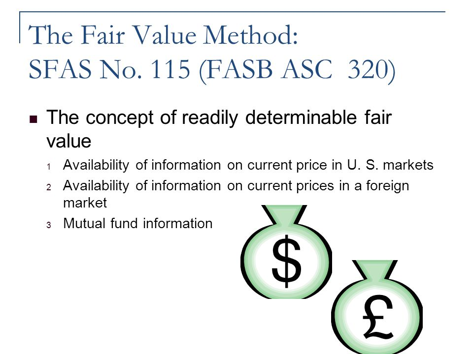 The Fair Value Method: SFAS No. 115 (FASB ASC 320)