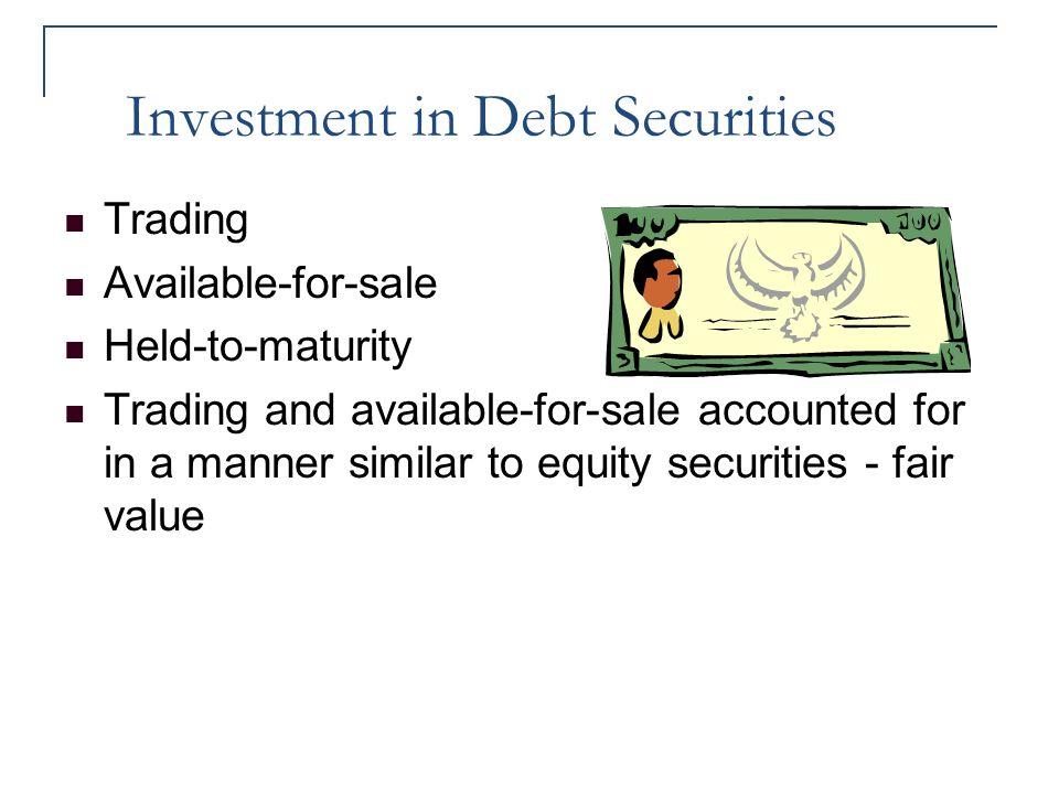 Investment in Debt Securities