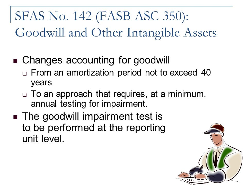 SFAS No. 142 (FASB ASC 350): Goodwill and Other Intangible Assets