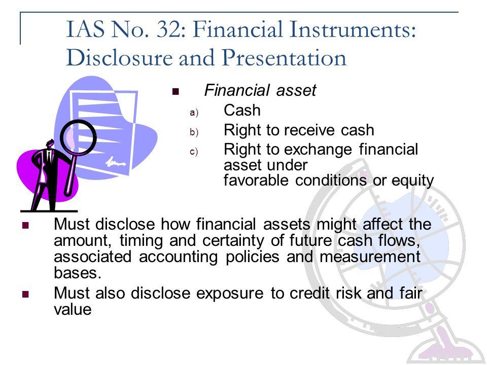 IAS No. 32: Financial Instruments: