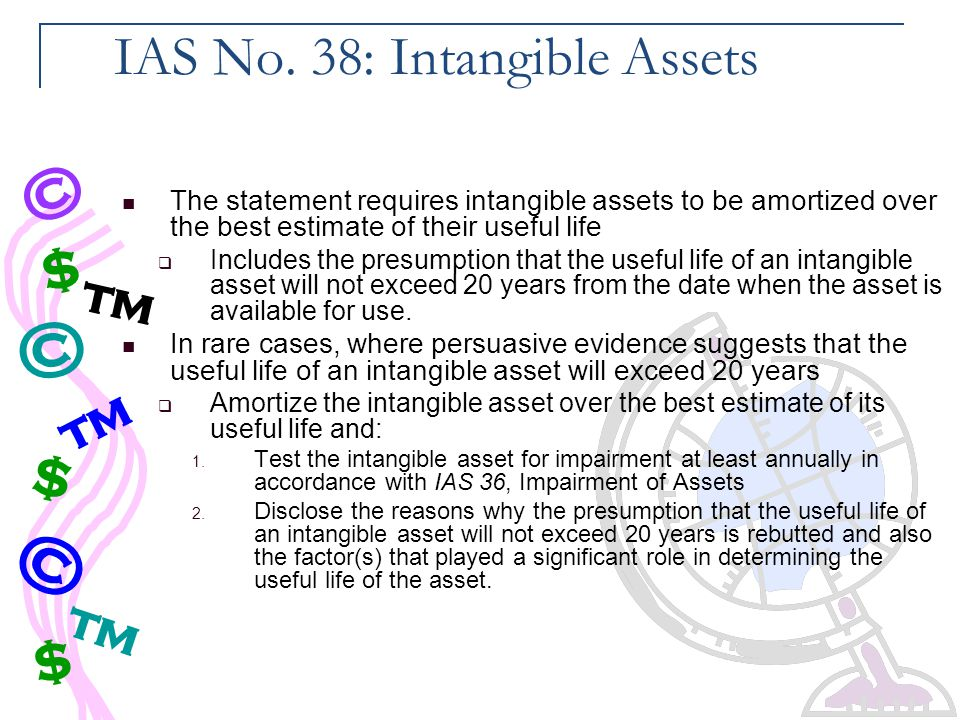 IAS No. 38: Intangible Assets