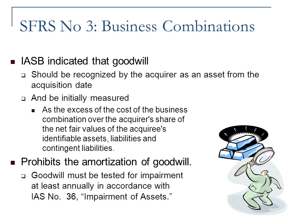 SFRS No 3: Business Combinations