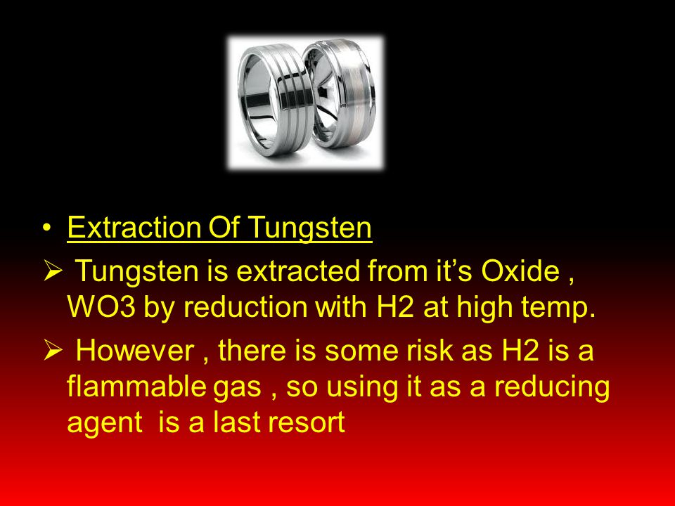 Extraction Of Tungsten