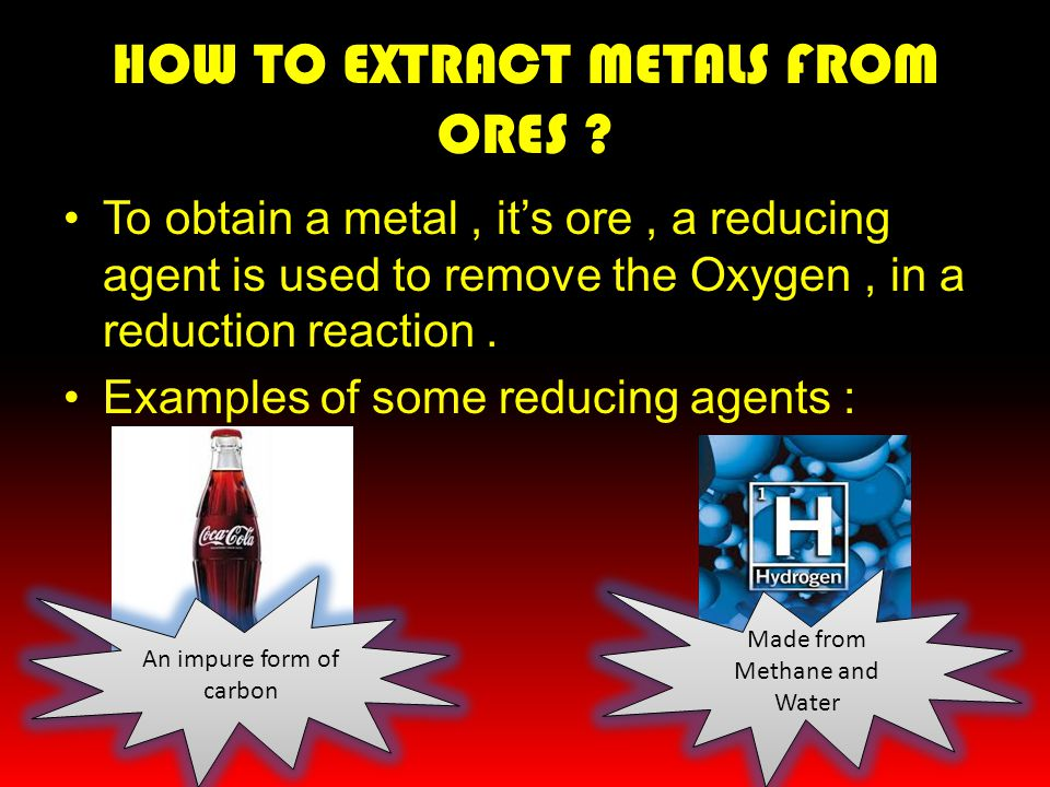 HOW TO EXTRACT METALS FROM ORES