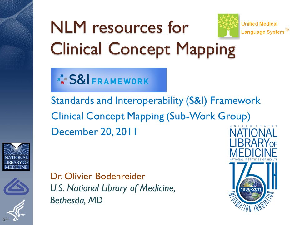 NLM resources for Clinical Concept Mapping
