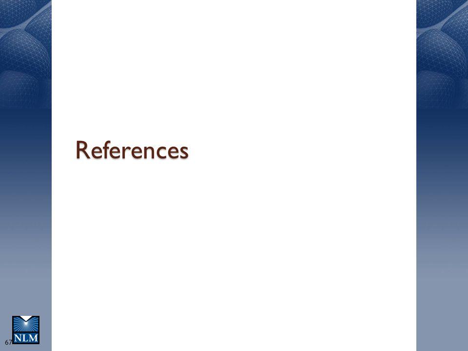 References O. Bodenreider - NLM 4/14/2017