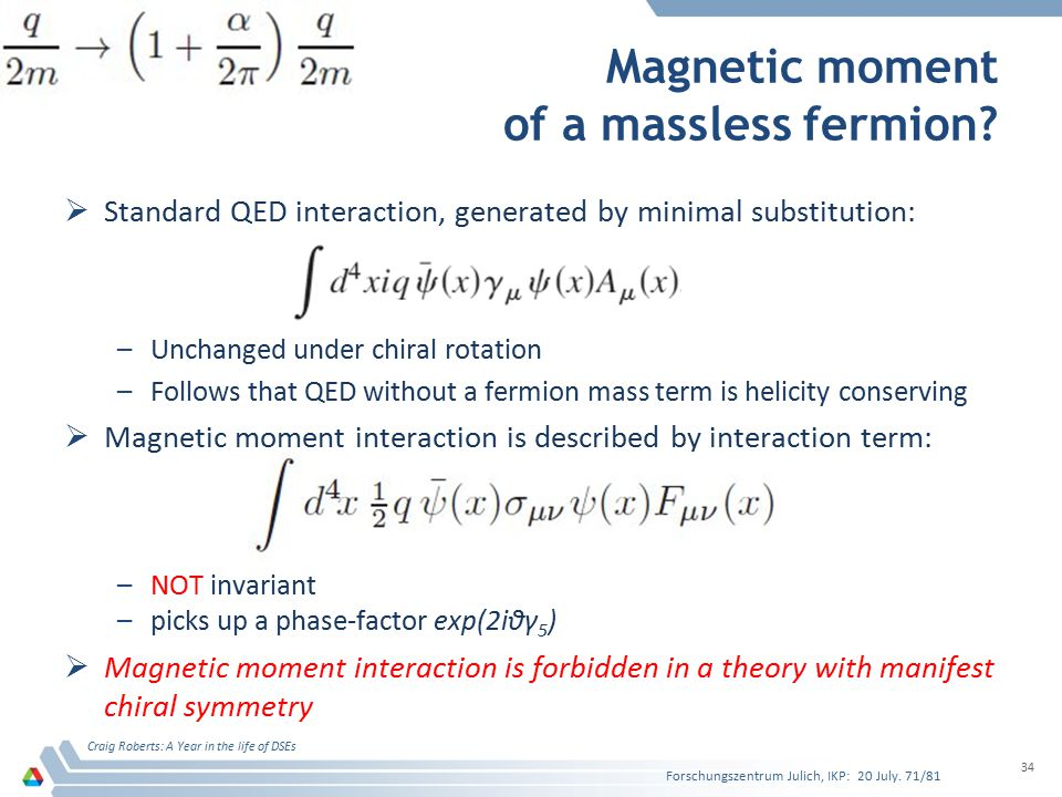 Magnetic moment of a massless fermion