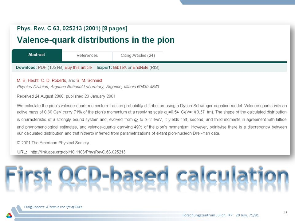 First QCD-based calculation