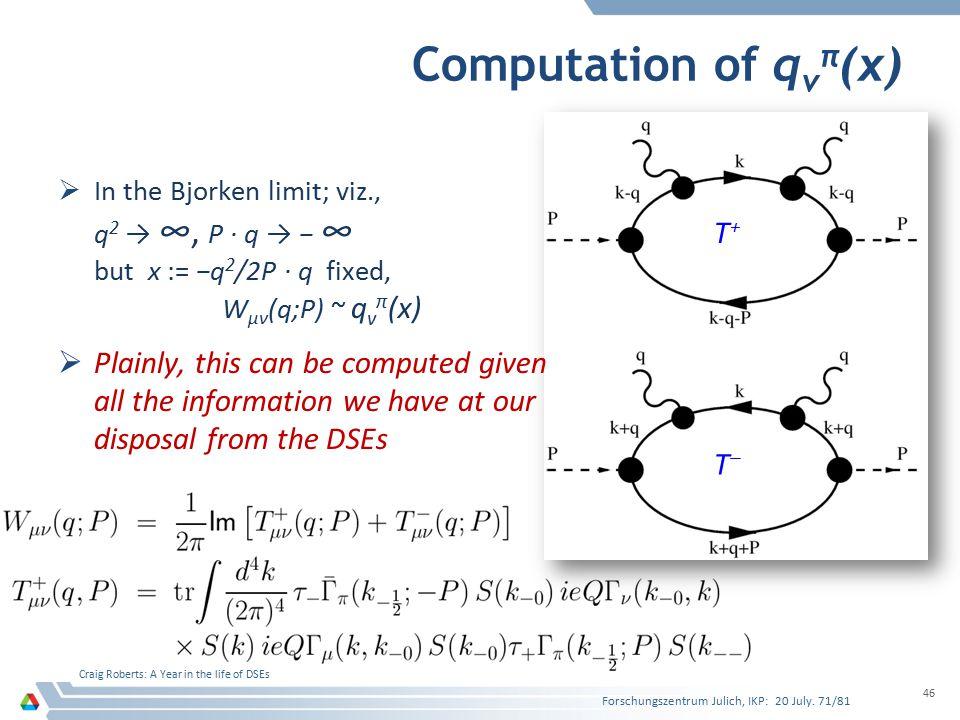 Computation of qvπ(x) T+
