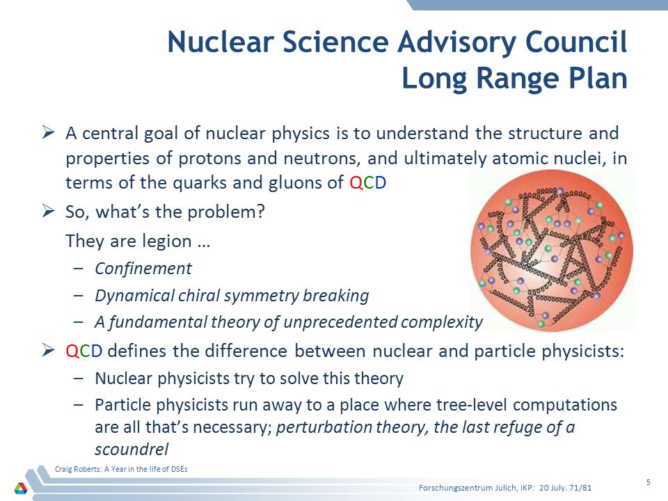Nuclear Science Advisory Council Long Range Plan